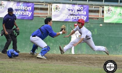Tiebreaker Times Ateneo fights off UP, errors for third win ADMU Baseball News UAAP UP  UP Baseball UAAP Season 79 Baseball UAAP Season 79 Timothy Cu Ryan Hilario Randy Dizer Miguel Dumlao Mark Tuballas Marco Mallari Javi Macasaet Ateneo Baseball Anthony Dizer