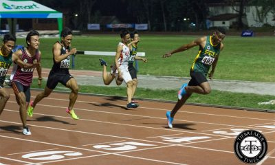 Tiebreaker Times UAAP Men's Track and Field Day 2: Bautista goes 2-of-2; Ubas sets new record ADMU AdU DLSU FEU News NU Track & Field UAAP UE UP UST  UST Tracksters UP Tracksters UE Tracksters UAAP Season 79 Men's Track and Field UAAP Season 79 Lambert Padua Janry Ubas FEU Tracksters Earl Casinabre De La Salle Tracksters Clinton Kingsley Bautista Ateneo Tracksters AdU Tracksters