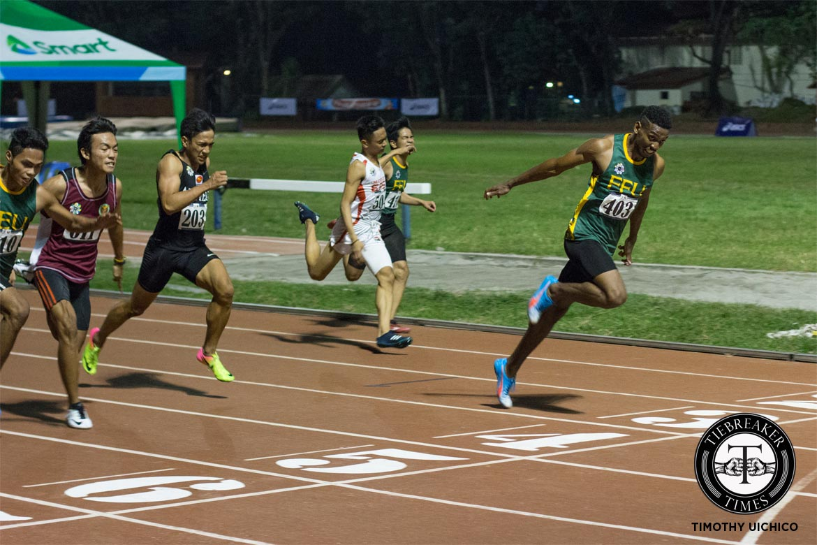 Philippine Sports News - Tiebreaker Times UAAP Men's Track and Field Day 2: Bautista goes 2-of-2; Ubas sets new record ADMU AdU DLSU FEU News NU Track & Field UAAP UE UP UST  UST Tracksters UP Tracksters UE Tracksters UAAP Season 79 Men's Track and Field UAAP Season 79 Lambert Padua Janry Ubas FEU Tracksters Earl Casinabre De La Salle Tracksters Clinton Kingsley Bautista Ateneo Tracksters AdU Tracksters