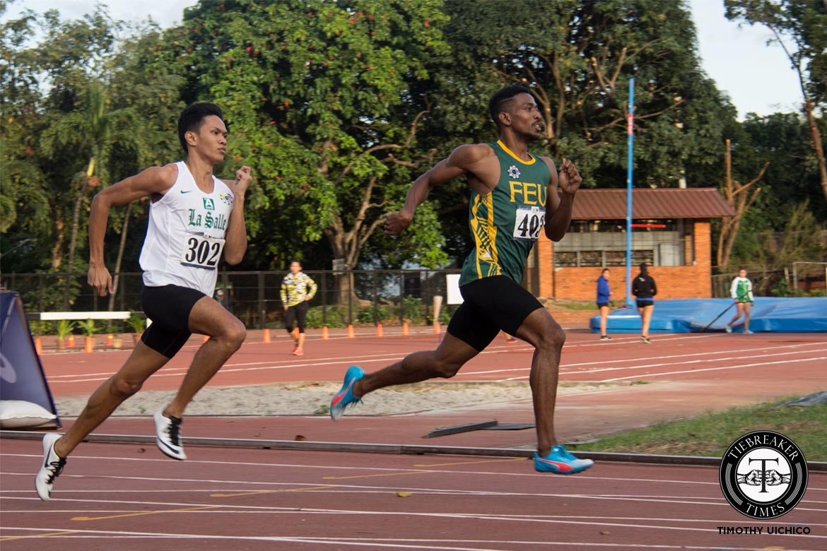 Philippine Sports News - Tiebreaker Times UAAP Men's Track and Field Day 3: FEU still leads despite bump ADMU AdU DLSU FEU News NU Track & Field UAAP UE UP UST  UST Tracksters UP Tracksters UE Tracksters UAAP Season 79 Men's Track and Field UAAP Season 79 Ryann Bugarin Reynold Villafranca Michael Del Prado Melvin Sangalang Leoniel Tigtig Joshua Patalud Janry Ubas Jaime Mejia FEU Tracksters De La Salle Tracksters Ateneo Tracksters AdU Tracksters
