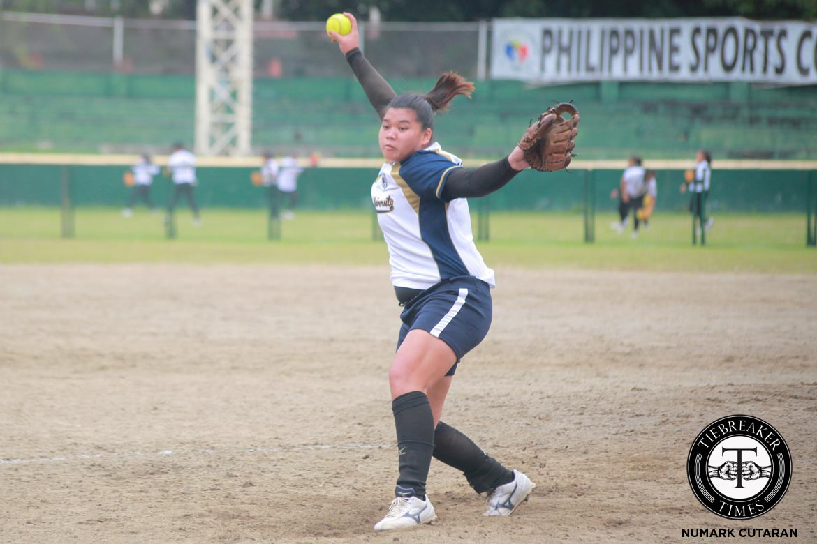 Tiebreaker Times Lady Bulldogs shut out hapless Lady Eagles for share of second ADMU News NU Softball UAAP  UAAP Season 79 Softball UAAP Season 79 Rina Vailoces NU Softball Kevyn Lacson Egay delos Reyes Dyan Arago Dione Macasu Colleen Alilin Ateneo Softball