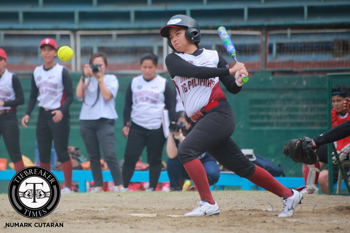 Tiebreaker Times Lady Maroons hold off hard-hitting Lady Eagles ADMU News Softball UAAP UP  UP Softball UAAP Season 79 Softball UAAP Season 79 MJ Abanes Maki Cabriana Kevyn Lacson Juliet Omul Jhoi Palacol Dione Macasu Ateneo Softball Angel Africa Alex Causapin