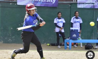 Tiebreaker Times Clutch San Juan lifts Lady Eagles to first win ADMU News Softball UAAP UE  UE Softball UAAP Season 79 Softball UAAP Season 79 Roxzell Niloban Randy Dizer Nikki Borromeo Ira Nevalga Edcel Bacarisas Ateneo Softball