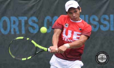 Tiebreaker Times Kinaadman, Red Warriors remain unscathed with win over UST Tennisters News Tennis UAAP UE UST  UST Men's Tennis UE Men's Tennis UAAP Season 79 Men's Tennis UAAP Season 79 Josshua Kinaadman Joel Cabusas En-En Lopez Clarence Cabahug Bernlou Bering AJ Lim