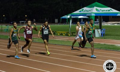 Tiebreaker Times UAAP Men's Track and Field Day 1: Bautista easily defends 100M crown ADMU AdU DLSU FEU News NU Track & Field UAAP UE UP UST  UST Tracksters UP Tracksters UE Tracksters UAAP Season 79 Men's Track and Field UAAP Season 79 Kenneth Rafanan FEU Tracksters Erwin Parcon EJ Bbiena De La Salle Tracksters Clinton Kingsley Bautista Ateneo Tracksters AdU Tracksters