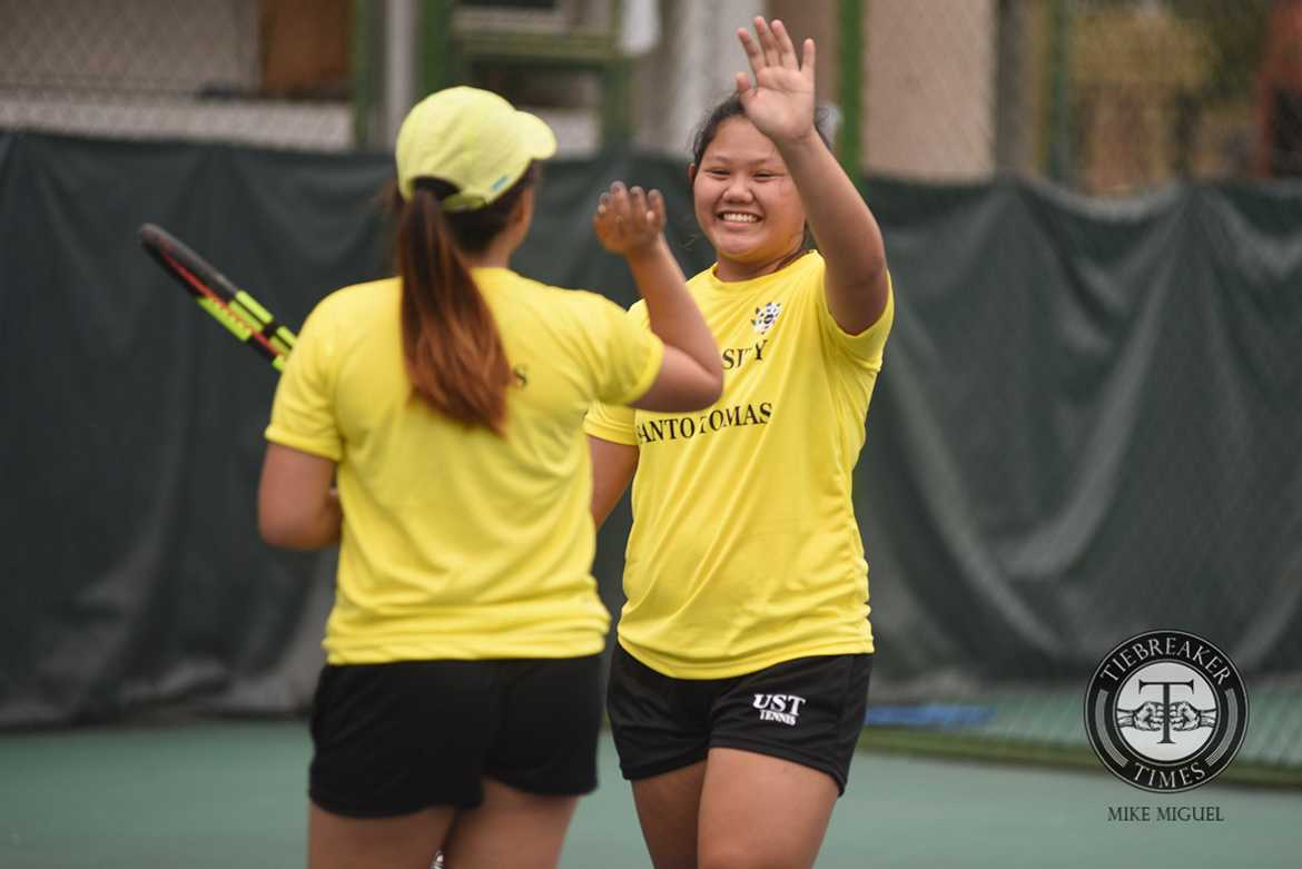 Tiebreaker Times UST opens campaign with rout of UP News Tennis UAAP UP UST  UST Women's Tennis UP Women's Tennis UAAP Season 79 Women's Tennis UAAP Season 79 Shymae Gitalan Precian Rivera Ingrid Gonzales Genevieve Caorte Erika Manduriao Alexi Santos