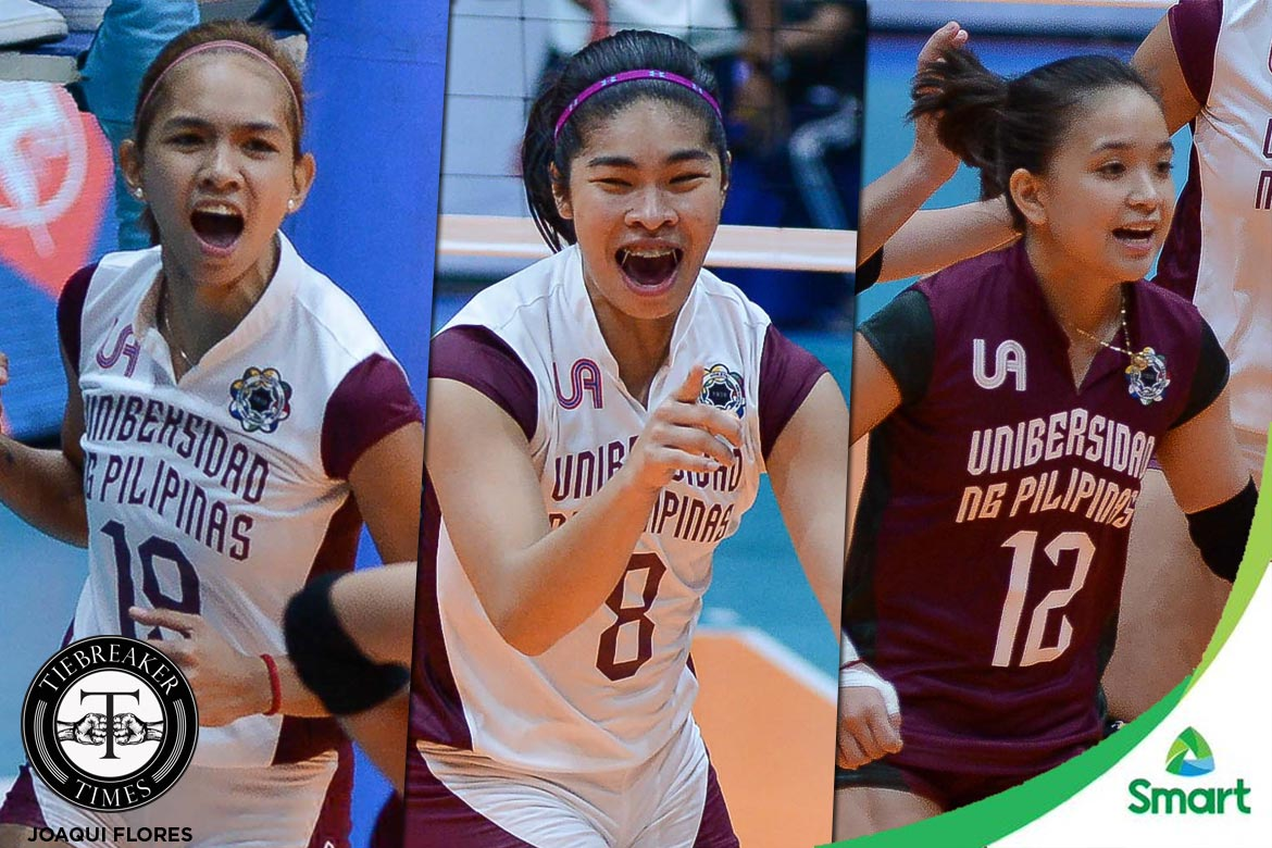 Tiebreaker Times Seniors bask in how far UP has come News UAAP UP Volleyball  UP Women's Volleyball UAAP Season 79 Women's Volleyball UAAP Season 79 Nicole Tiamzon Kathy Bersola