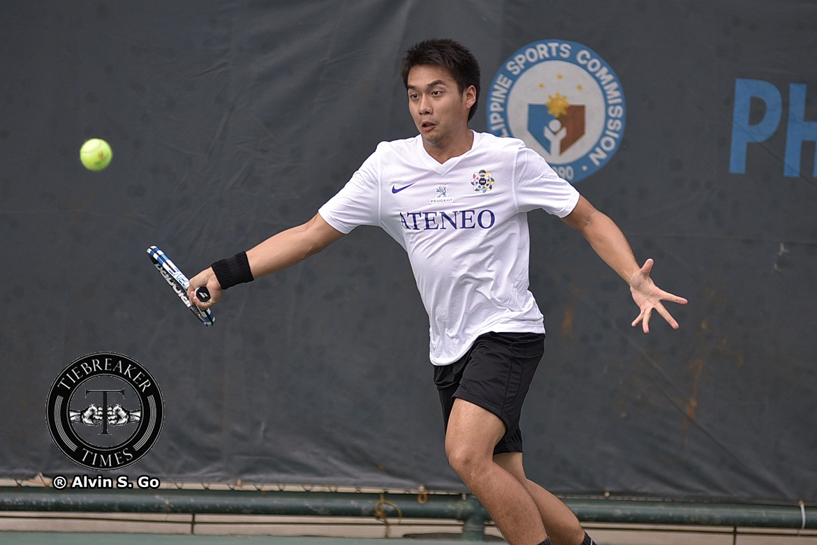 Tiebreaker Times Blue Eagles turn back Fighting Maroons, end round with two straight wins ADMU News Tennis UAAP UP  Vincent Alanis UP Men's Tennis UAAP Season 80 Men's Tennis UAAP Season 80 Marcen Gonzales Luke Flores Joshua Cano Ino Canlas Erj Gatdula Auden Pagduganan Ateneo Men's Tennis