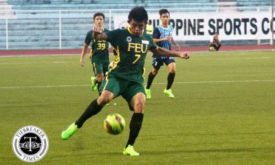 Tiebreaker Times Andes scores brace; FEU routs Adamson for second win ADMU AdU DLSU FEU Football News NU UAAP UE UP UST  Vince Santos Val Jurao UAAP Season 79 Men's Football UAAP Season 79 Rico Andes Nolan Manito FEU Men's Football Dominique Canonigo Carl Viray Arjay Joyel Adamson Men's Football