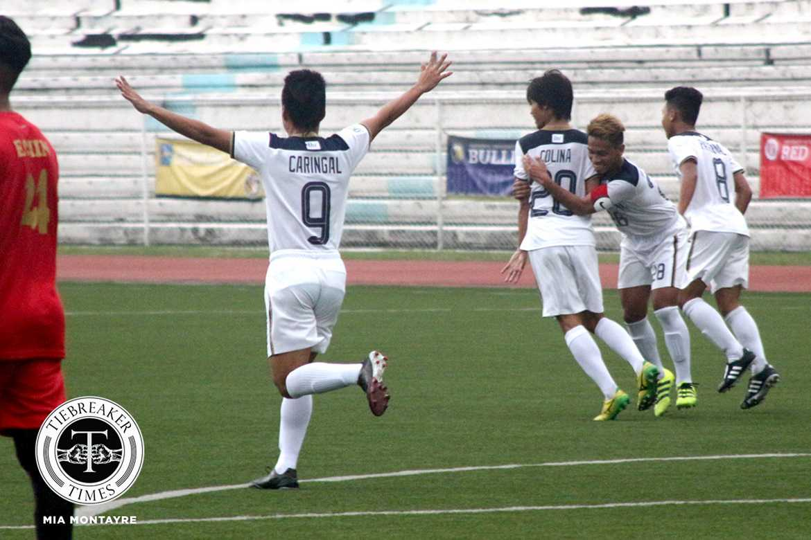 Tiebreaker Times National U earns point in late comeback against UE Football News NU UAAP UE  UE Men's Football UAAP Season 79 Men's Football UAAP Season 79 Patrick Valenzuela NU Men's Football Mari Aberasturi Mar Diano Lawrence Colina Hayeson Pepito Frank Rieza Fitch Arboleda Bon Opeña