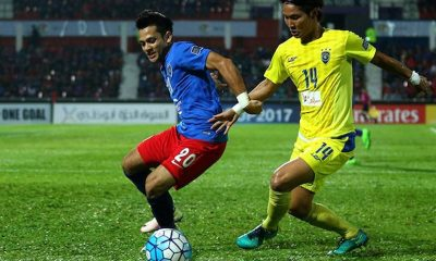 Tiebreaker Times Global-Cebu suffers first loss away to Malaysian powerhouse JDT AFC Cup Football News PFL  Toshiaki Imai Safiq Rahim Patrick Deyto Mario Gomez Marcos Antonio Mahalli Jasuli Johor Darul Ta'zim FC Izham Tarmizi Global FC Brian Ferreira 2017 AFC Cup Group F 2017 AFC Cup