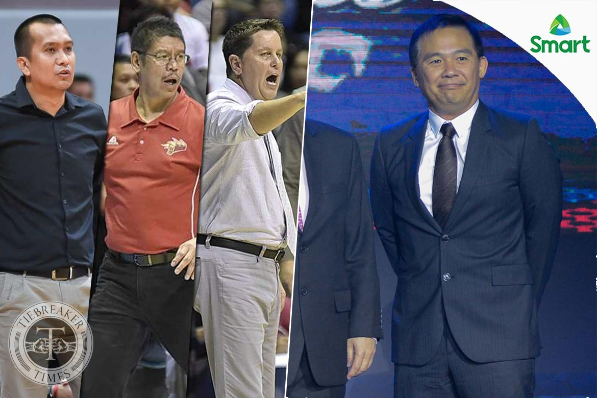 Philippine Sports News - Tiebreaker Times SMC coaches to have an encore against Gilas for All-Star Week Basketball News PBA  Tim Cone PBA Season 43 Leo Austria Chito Victolero 2018 PBA All-Star Game