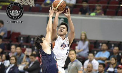 Tiebreaker Times Amer steers Meralco past Rain or Shine to keep perfect slate Basketball News PBA  Shawn Taggart Rain or Shine Elasto Painters PBA Season 42 Norman Black Meralco Bolts Jericho Cruz Cliff Hodge Caloy Garcia Baser Amer Alex Stepheson 2017 PBA Commissioners Cup