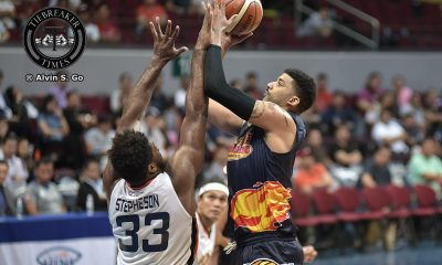 Tiebreaker Times Cold-shooting Taggart left frustrated after Rain or Shine's first loss Basketball News PBA  Shawn Taggart Rain or Shine Elasto Painters PBA Season 42 2017 PBA Commissioners Cup