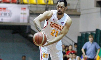 Tiebreaker Times At 36, Gaco is happy to just guide young Rhum Masters Basketball News PBA D-League  Tanduay Rhum Masters Lawrence Chongson Jerwin Gaco 2017 PBA D-League Season 2017 PBA D-League Aspirants Cup