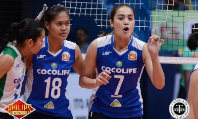 Tiebreaker Times Cocolife picks up first franchise win, downs Sta. Lucia News PSL Volleyball  Sta. Lucia Lady Realtors Rhea Ramirez Ranya Musa Obet Javier Michele Gumabao Michael Carino Lourdes Clemente Jovielyn Prado Denden Lazaro Cocolife Asset Managers 2017 PSL Season 2017 PSL Invitational