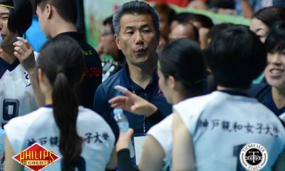 Tiebreaker Times Kobe Shinwa coach impressed by PSL teams' offense News PSL Volleyball  Kobe Shinwa Women's University Kiyokazu Yamamoto 2017 PSL Season 2017 PSL Invitational