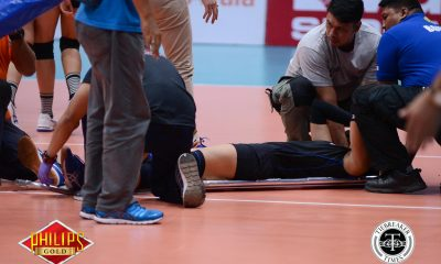 Tiebreaker Times Santiago-Manabat stretchered out as Foton comes back against Sta. Lucia News PSL Volleyball  Sta. Lucia Lady Realtors Moro Branislav Michael Carino Lourdes Clemente Jen Reyes Ivy Perez Grethcel Soltones Foton Tornadoes Dindin Santiago-Manabat Cindy Imbo 2017 PSL Season 2017 PSL Invitational