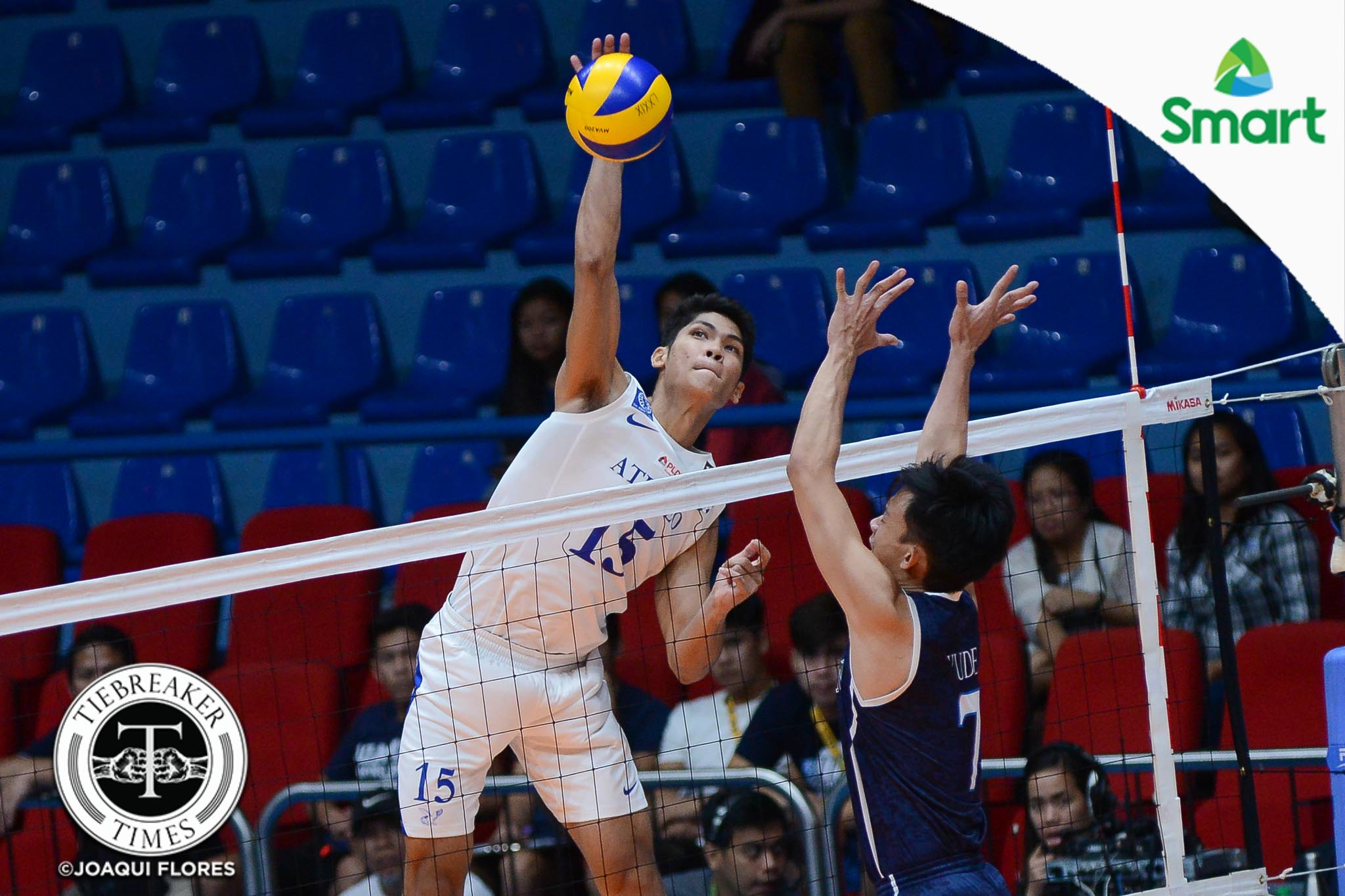 Tiebreaker Times Blue Eagles sweep season series over Soaring Falcons ADMU AdU News UAAP Volleyball  UAAP Season 79 Men's Volleyball UAAP Season 79 Rex Intal Oliver Almadro Marck Espejo Manuel Sumanguid JP Yude Jerome Sarmiento Ish Polvorosa Domingo Custodio Ateneo Men's Volleyball Adamson Men's Volleyball