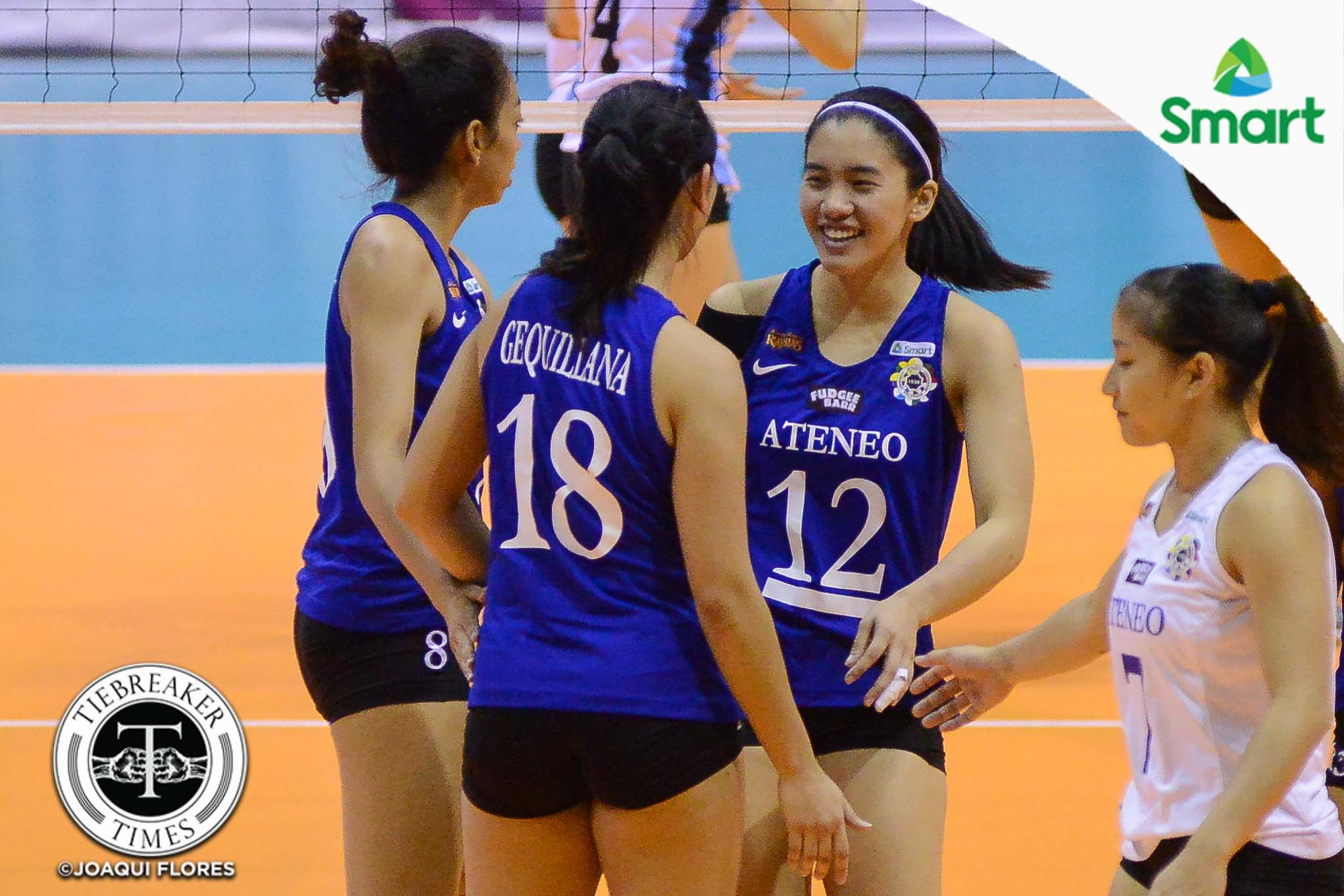Tiebreaker Times Lady Eagles smash Galanza-less Lady Falcons ADMU AdU News UAAP Volleyball  UAAP Season 79 Women's Volleyball UAAP Season 79 Sherwin Meneses Michelle Morente Kim Gequillana Joy Dacoron Jia Morado Gyzelle Tan Ateneo Women's Volleyball Airess Padda Adamson Women's Volleyball