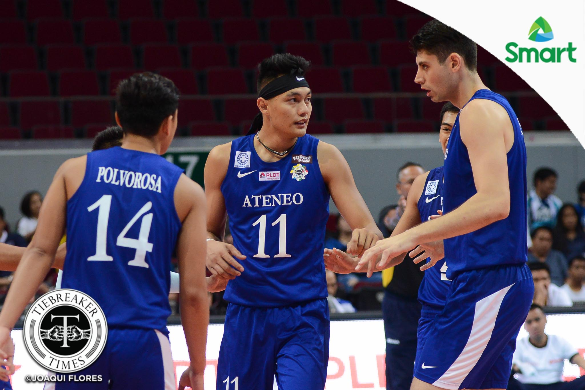Blue Eagles Breeze Past Ailing Green Spikers To Sweep First Round Tiebreaker Times