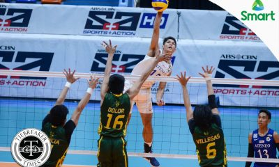Tiebreaker Times Blue Eagles record season highs, rip Tamaraws to remain spotless ADMU FEU News UAAP Volleyball  UAAP Season 79 Men's Volleyball UAAP Season 79 Rey Diaz Peter Quiel Oliver Almadro Marck Espejo Manuel Sumanguid Karl Baysa Ish Polvorosa Greg Dolor FEU Men's Volleyball Ateneo Men's Volleyball