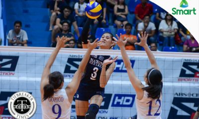 Tiebreaker Times Old-fashioned Lady Bulldogs complete shocking season sweep of Lady Eagles ADMU News NU UAAP Volleyball  UAAP Season 79 Women's Volleyball UAAP Season 79 Tai Bundit Roger Gorayeb NU Women's Volleyball Kat Tolentino Jorelle Singh Jia Morado Jhoana Maraguinot Jasmine Nabor Jaja Santiago Ateneo Women's Volleyball