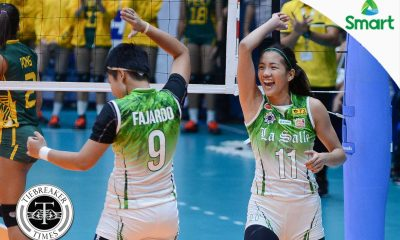 Tiebreaker Times Lady Spikers quell late-starting Lady Tamaraws DLSU FEU News UAAP Volleyball  UAAP Season 79 Women's Volleyball UAAP Season 79 Tine Tiamzon Shaq delos Santos Remy Palma Ramil De Jesus Kim Fajardo FEU Women's Volleyball DLSU Women's Volleyball Desiree Cheng Dawn Macandili Bernadeth Pons