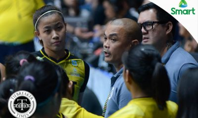 Tiebreaker Times Kungfu Reyes offers clarification on Ej Laure absence News UAAP UST Volleyball  UST Women's Volleyball UAAP Season 80 Women's Volleyball UAAP Season 80 Kungfu Reyes EJ Laure