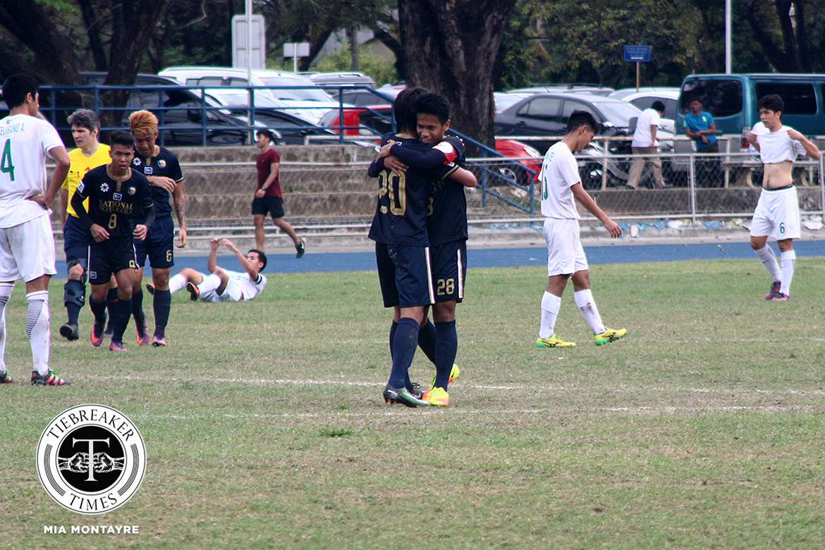 Tiebreaker Times Colina scores late hattrick as NU downs La Salle for second straight win DLSU Football News NU UAAP  UAAP Season 79 Men's Football UAAP Season 79 Rigoberto Carlos Joseph NU Men's Football Mari Aberasturi Lawrence Colina Kerbi Almonte Hayeson Pepito Hans-Peter Smit DLSU Men's Football