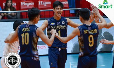 Tiebreaker Times Bryan Bagunas drops 27 as Bulldogs slam Fighting Maroons News NU PVL UP Volleyball  Wendel Miguel UP Men's Volleyball Rod Palmero Ricky Marcos NU Men's Volleyball Mark Millete Madz Gampong Kim Dayandante Dante Alinsunurin Bryan Bagunas 2017 PVL Season 2017 PVL Men's Collegiate Conference