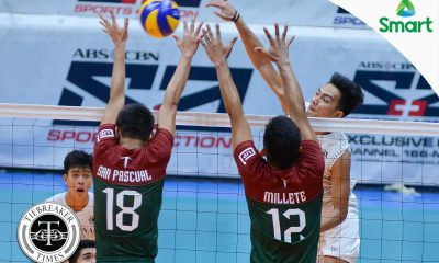 Tiebreaker Times NU survives another error-plagued match against UP News NU UAAP UP Volleyball  Wendel Miguel UP Men's Volleyball UAAP Season 79 Men's Volleyball UAAP Season 79 Rod Palmero Ricky Marcos NU Men's Volleyball Mark Millete Kim Dayandante Fauzi Ismail Dante Alinsunurin Bryan Bagunas