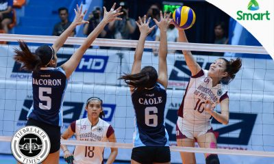 Tiebreaker Times Lady Maroons crush Lady Falcons to stay in Final Four race AdU News UAAP UP Volleyball  UP Women's Volleyball UAAP Season 79 Women's Volleyball UAAP Season 79 Kathy Bersola Justine Dorog Jerry Yee Jema Galanza Isa Molde Arielle Estranero Airess Padda Adamson Women's Volleyball