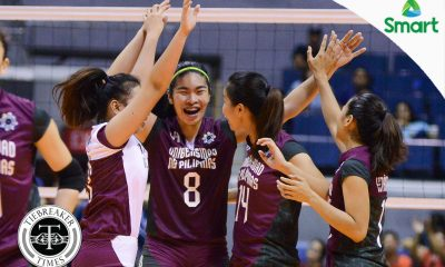 Tiebreaker Times Lady Maroons pound mis-receiving Lady Bulldogs, avenge first round loss News NU UAAP UP Volleyball  UP Women's Volleyball UAAP Season 79 Women's Volleyball UAAP Season 79 NU Women's Volleyball Kathy Bersola Justine Dorog Jerry Yee Jaja Santiago Isa Molde Edjet Mabbayad Diana Carlos Arielle Estranero Aiko Urdas