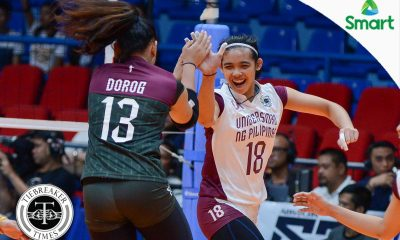 Tiebreaker Times Carlos, Lady Maroons vow to bounce back for Final Four push News UAAP UP Volleyball  UP Women's Volleyball UAAP Season 79 Women's Volleyball UAAP Season 79 Tots Carlos