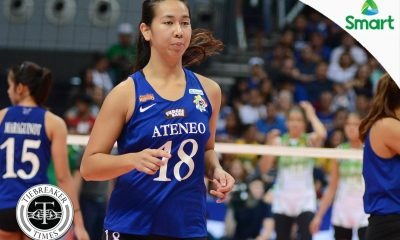 Tiebreaker Times 'The Closer' makes most of extended playing time ADMU News UAAP Volleyball  UAAP Season 79 Women's Volleyball UAAP Season 79 Sherwin Meneses Kim Gequillana Ateneo Women's Volleyball