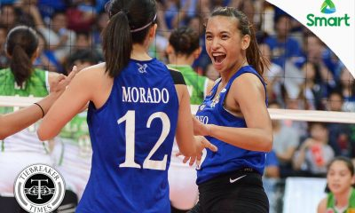 Tiebreaker Times Morente makes the difference for Ateneo ADMU News UAAP Volleyball  UAAP Season 79 Women's Volleyball UAAP Season 79 Michelle Morente Bea De Leon Ateneo Women's Volleyball Amy Ahomiro