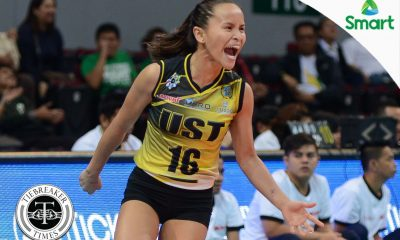 Tiebreaker Times Resilient Rondina powers through rough start to help UST past FEU News UAAP UST Volleyball  UST Women's Volleyball UAAP Season 79 Women's Volleyball UAAP Season 79 Cherry Rondina