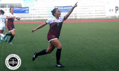 Tiebreaker Times Super-sub Malonzo forces turnaround as UP stuns UST for first win Football News UAAP UP UST  UST Women's Football UP Women's Football UAAP Season 79 Women's Football UAAP Season 79 Patricia Malonzo Nicole Reyes Nic Adlawan Charisa Lemoran Andres Gonzales Aging Rubio Adia Mendoza