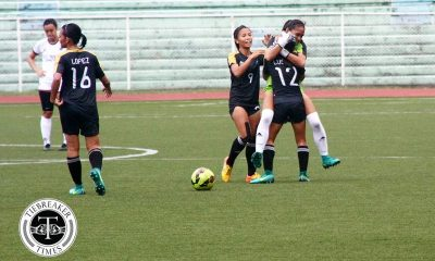 Tiebreaker Times Late Lustan goal lifts UST above UP for second win Football News UAAP UP UST  UST Women's Football UP Women's Football UAAP Season 79 Women's Football UAAP Season 79 Prescila Rubio Nicole Adlawan Ivy Lopez Hazel Lustan Andres Gonzales