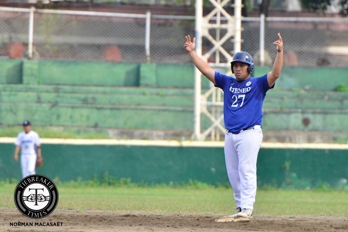Tiebreaker Times Ramos leads Ateneo to the Finals ADMU AdU Baseball News UAAP  UAAP Season 79 Baseball UAAP Season 79 Renzo Ramos Randy Dizer Orlando Binarao Miggy Angeles Marco Mallari Jerome Yenson Christian Maigue Ateneo Baseball Adamson Baseball