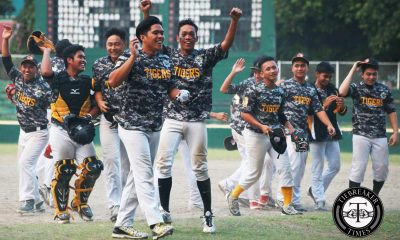 Tiebreaker Times UST plays with urgency, leapfrogs La Salle for solo second Baseball DLSU News UAAP UST  UST Baseball UAAP Season 79 Baseball UAAP Season 79 Ron Dela Cruz Kirk Peralta Jeffrey Santiago Iggy Escano Ian Llave Elijah Pagkaliwagan DLSU Baseball Boo Barandiaran