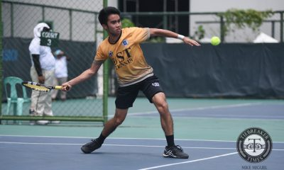 Tiebreaker Times UST Tennisters shoot down Blue Eagles, solidify Finals bid ADMU News NU Tennis UAAP  Warren Lagahit UST Men's Tennis UAAP Season 79 Men's Tennis UAAP Season 79 Nico Lanzado Marcen Gonzales JC Cabusas Ino Canlas Clarence Cabahug Bernlou Bering Ateneo Men's Tennis
