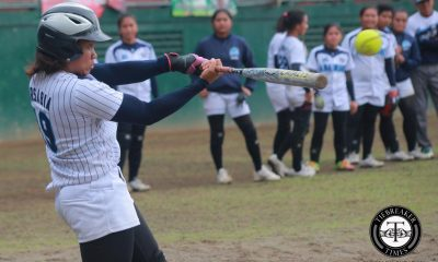 Tiebreaker Times Adamson picks up Game One; UST ace Antolihao falls to injury AdU News Softball UAAP UST  UST Softball UAAP Season 79 Softball UAAP Season 79 Riflayca Basa Riezel Calumbres Mary Louise Garde Lorna Adorable Florable Pabiana Delyrose Covarrubias Ann Antolihao Angelie Ursabia Adamson Softball