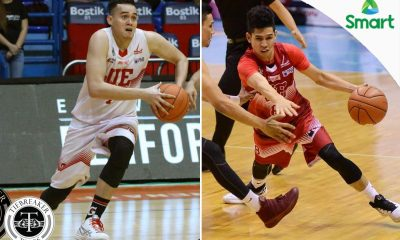 Tiebreaker Times UE lets go of Charcos, De Leon Basketball News UAAP UE  UE Men's Basketball UAAP Season 79 Men's Basketball UAAP Season 79 RR De Leon Edgar Charcos Derrick Pumaren
