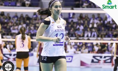 Tiebreaker Times Dazzling Morado puts on show against UP ADMU News UAAP Volleyball  UAAP Season 79 Women's Volleyball UAAP Season 79 Sherwin Meses Jia Morado Bea De Leon Ateneo Women's Volleyball