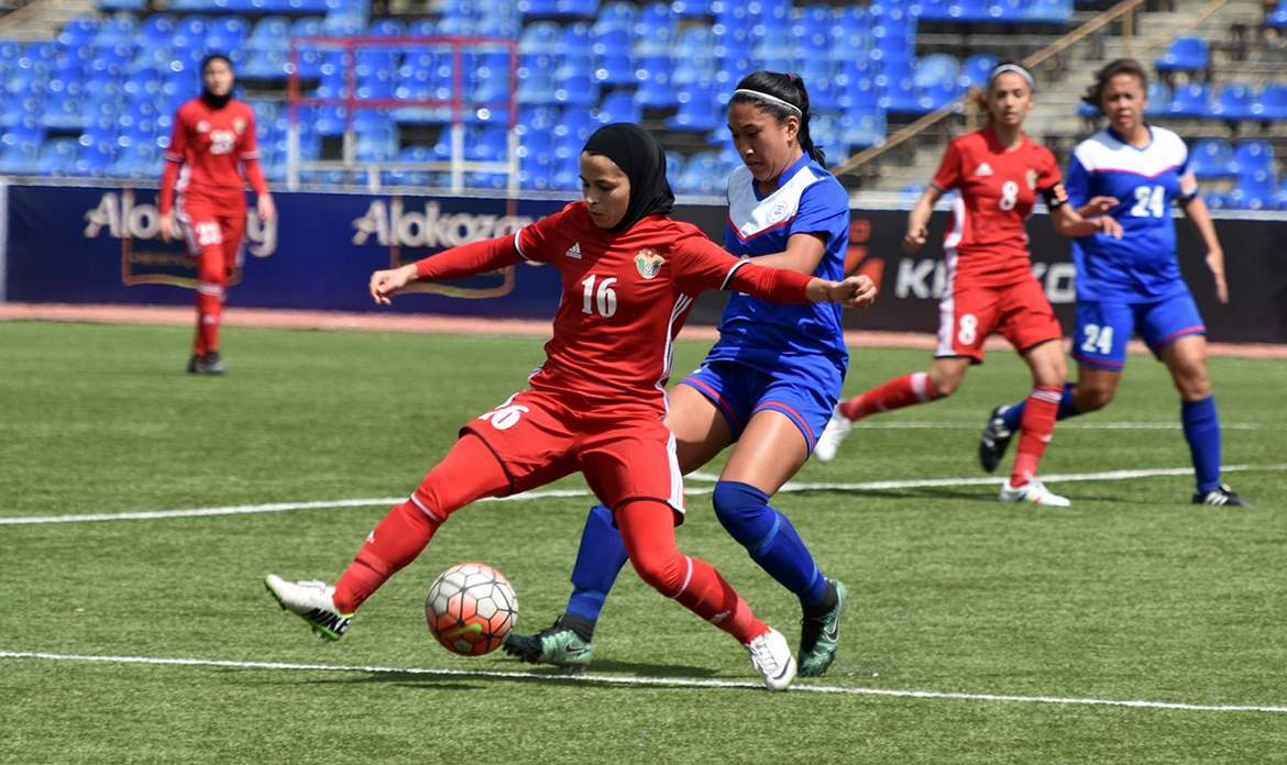 Philippine Sports News - Tiebreaker Times Philippines sent crashing back down after Jordan rout Football News Philippine Malditas  Jordan (Football) Inna Palacios Buda Bautista Alisha Del Campo 2017 AFC Women's Asian Cup Qualifiers