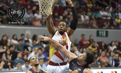 Tiebreaker Times Rhodes finally gets even with college rival Taggart Basketball News PBA  Shawn Taggart San Miguel Beermen PBA Season 42 Charles Rhodes 2017 PBA Commissioners Cup