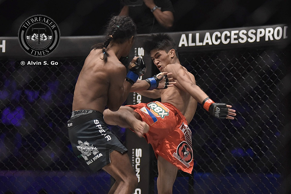 Philippine Sports News - Tiebreaker Times Kingad makes it five in a row; Toquero's skid continues Mixed Martial Arts News ONE Championship  Xie Bin Stefer Rahardian ONE: Kings of Destiny Muhammad Aiman Eugene Toquero Danny Kingad Chan Rothana