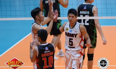 Tiebreaker Times Army rallies back to claim opening day win over IEM News PVL Volleyball  Timothy Tajanlangit Rico De Guzman Philippine Army Troopers Joeward Presnede Jayvee Sumagaysay Jason Uy IEM Volley Masters Greg Dolor Ernesto Balubar Benjaylo Labide 2017 PVL Season 2017 PVL Men's Reinforced Conference